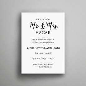 Simple Engagement Party Invitation